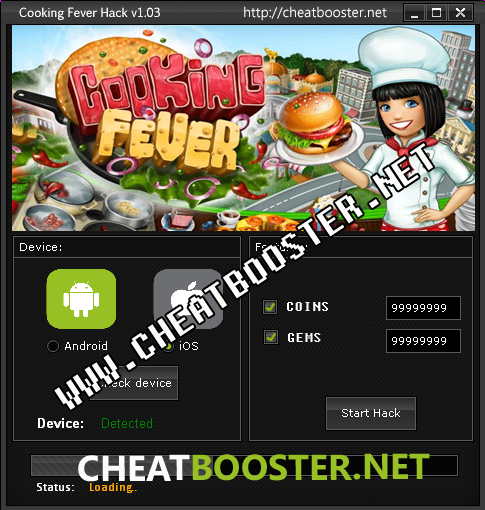 cooking fever casino cheat android