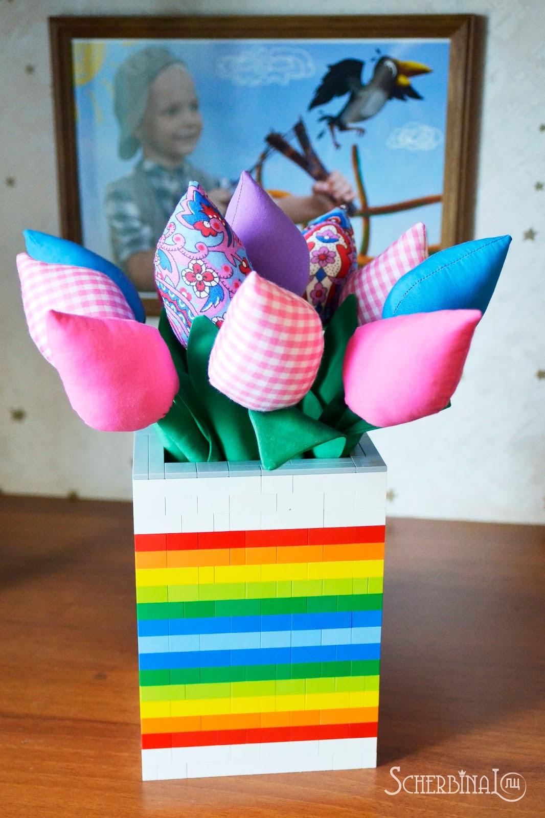 текстильные тюльпаны, тюльпаны Тильда