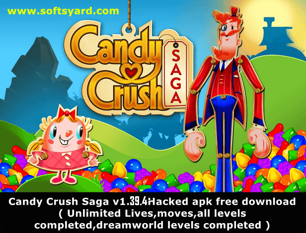 Candy Crush Saga v1.39.4 Hacked Apk Free Download