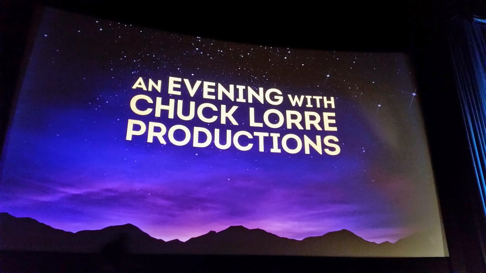 An Evening with Chuck Lorre Productions