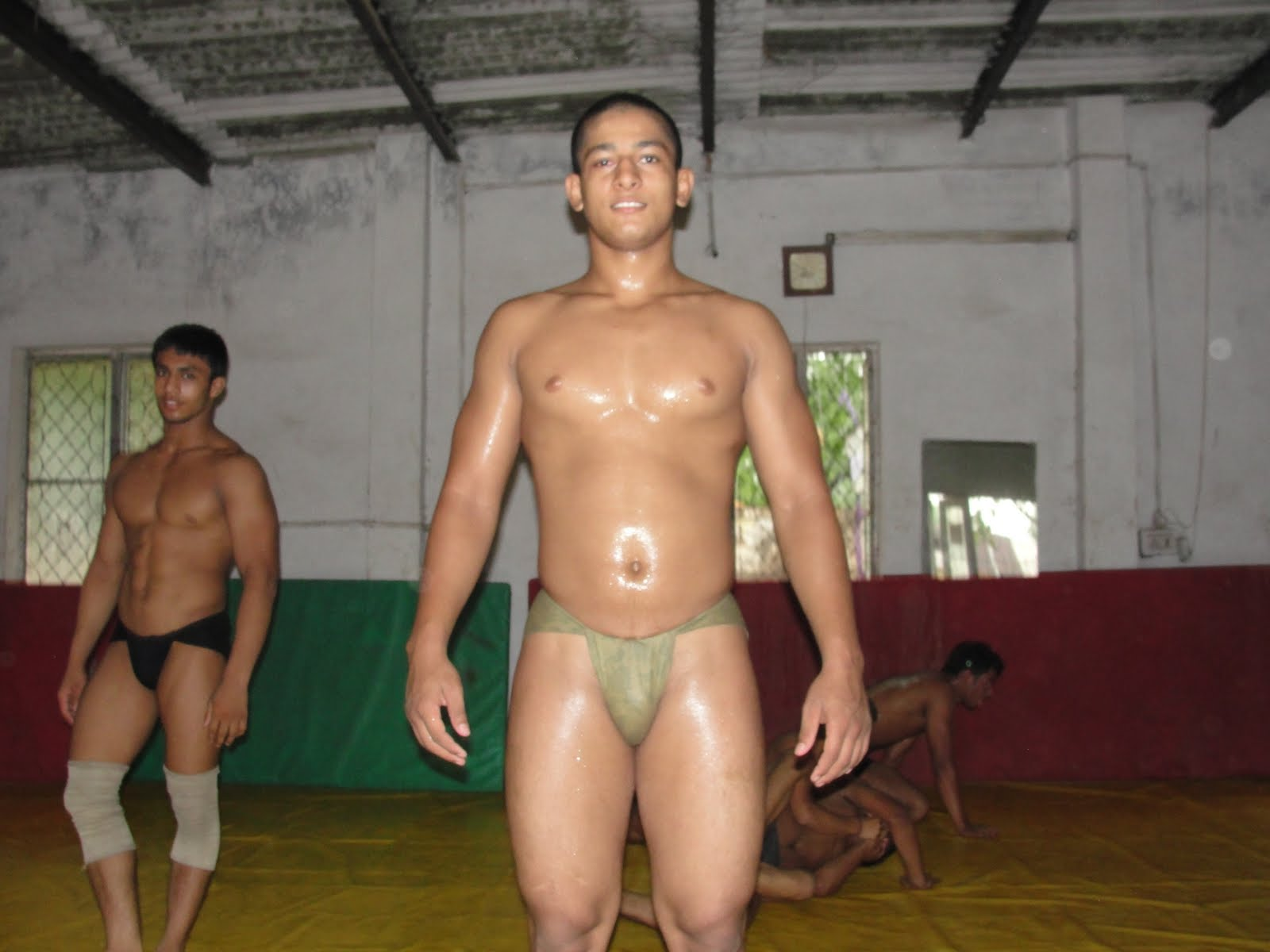 hot weather nude wrestling