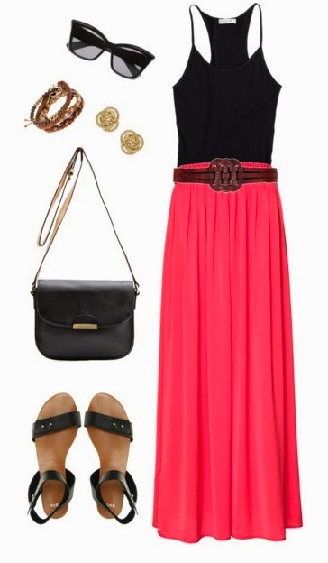 Black and pink Summer outfit