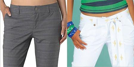 Дамски панталони с италиански странични джобове
