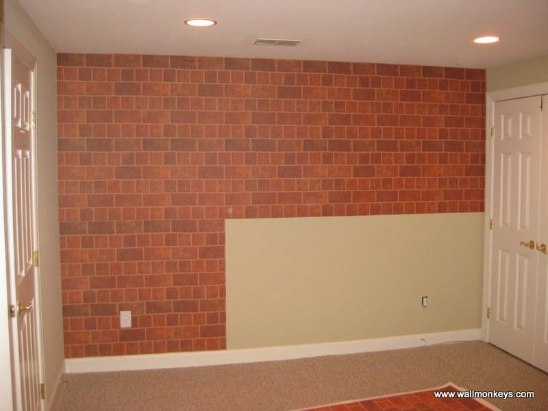brick box image: brick wall decal