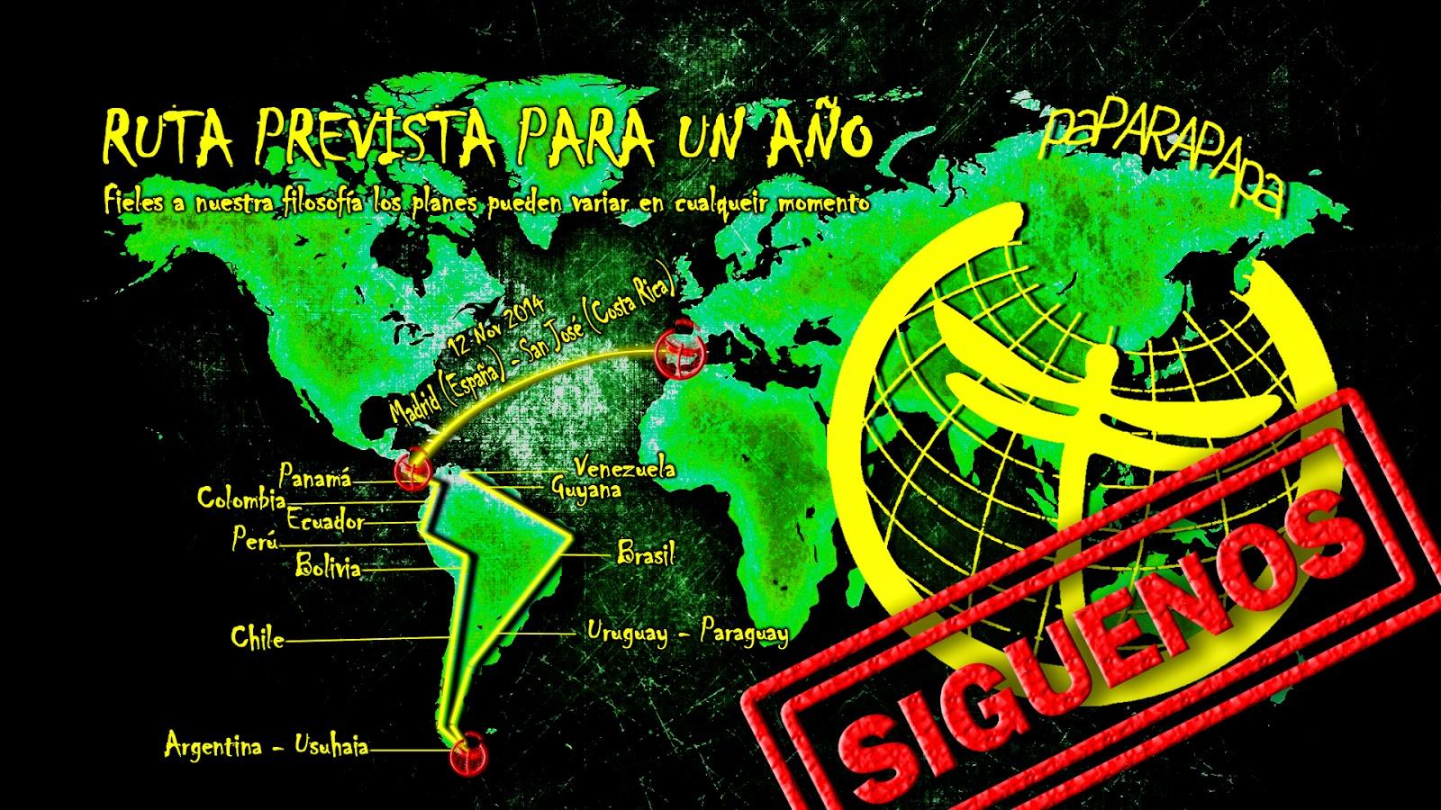 Ruta PAPARAPAPA para mochileros por Sudamérica