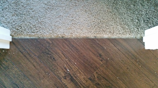 Iheart organizing do it yourself floating laminate floor installation step one remove previous transition hardware solutioingenieria Images