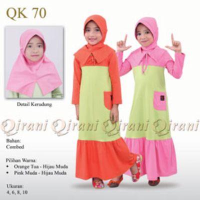 20 Baju Gamis Anak Qirani Terbaru