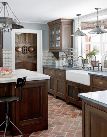 Color Outside the Lines: Kitchen Inspiration Month: Day One - Brick ...