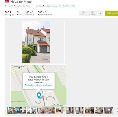 Vorkassebetrug mit telefon 069 50004591 answerinbox im for Haus zur miete in berlin