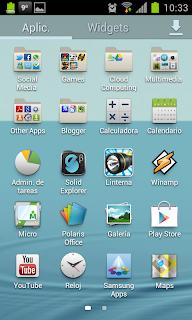 Touchwiz Nature UX - Aplicaciones