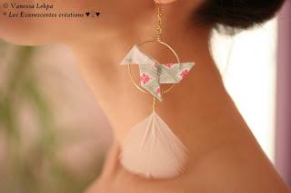 bijoux poétiques romantique plume blanche
