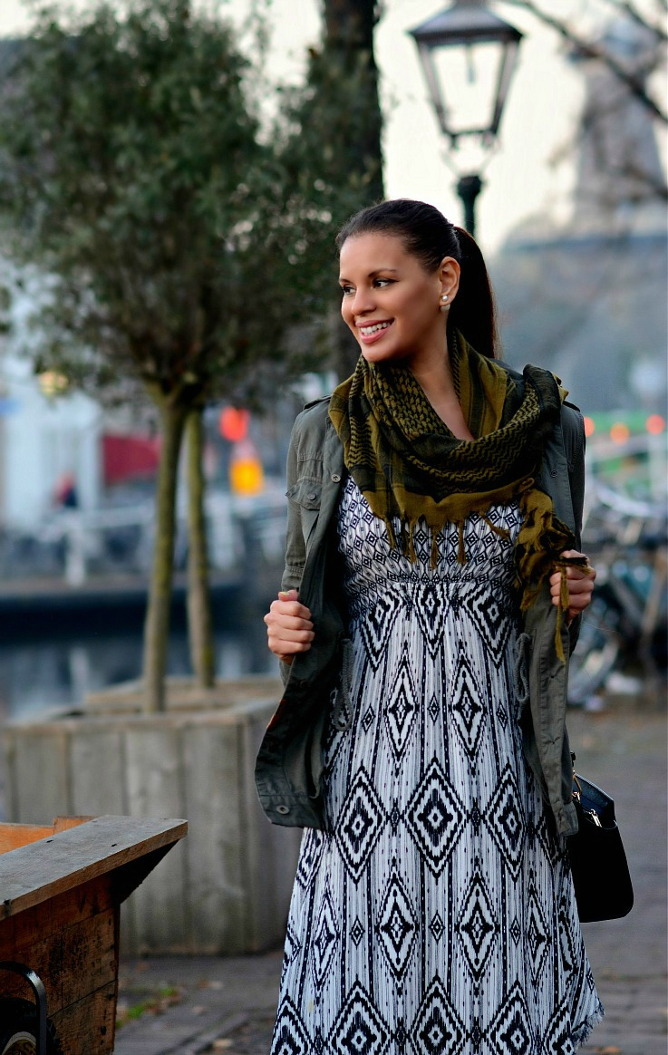 Tamara Chloé, TC Style Clues, Bershka Dress, Zara, Fringe Ankleboots, Michael Kors Selma bag, Prisma watch, Mise En Dior Tribal Earrings, Fall outfit, Leiden