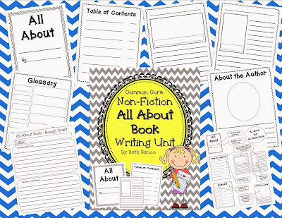 http://www.teacherspayteachers.com/Product/All-About-Book-Non-Fiction-Research-Writing-Unit-Common-Core-Aligned-967198