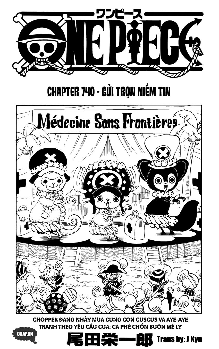 One Piece Chapter 740: Gửi trọn niềm tin 001