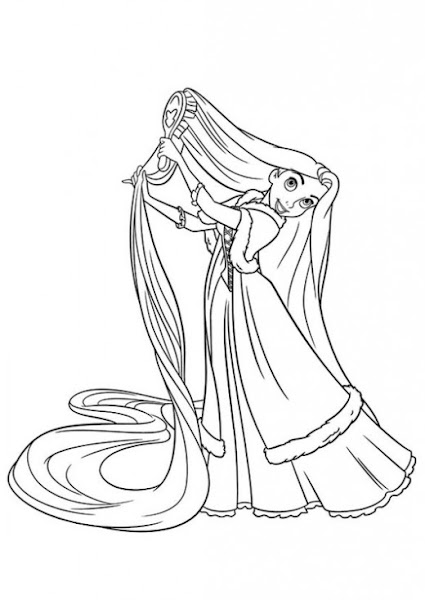 Tangled Coloring Pages Disney