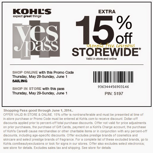 Kohls coupon code 30 percent may 2018