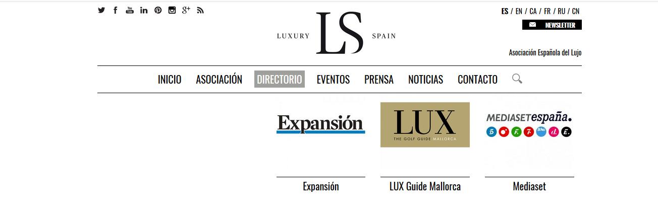 LUX EN LA ASOCIACION ESPAÑOLA DE LUJO