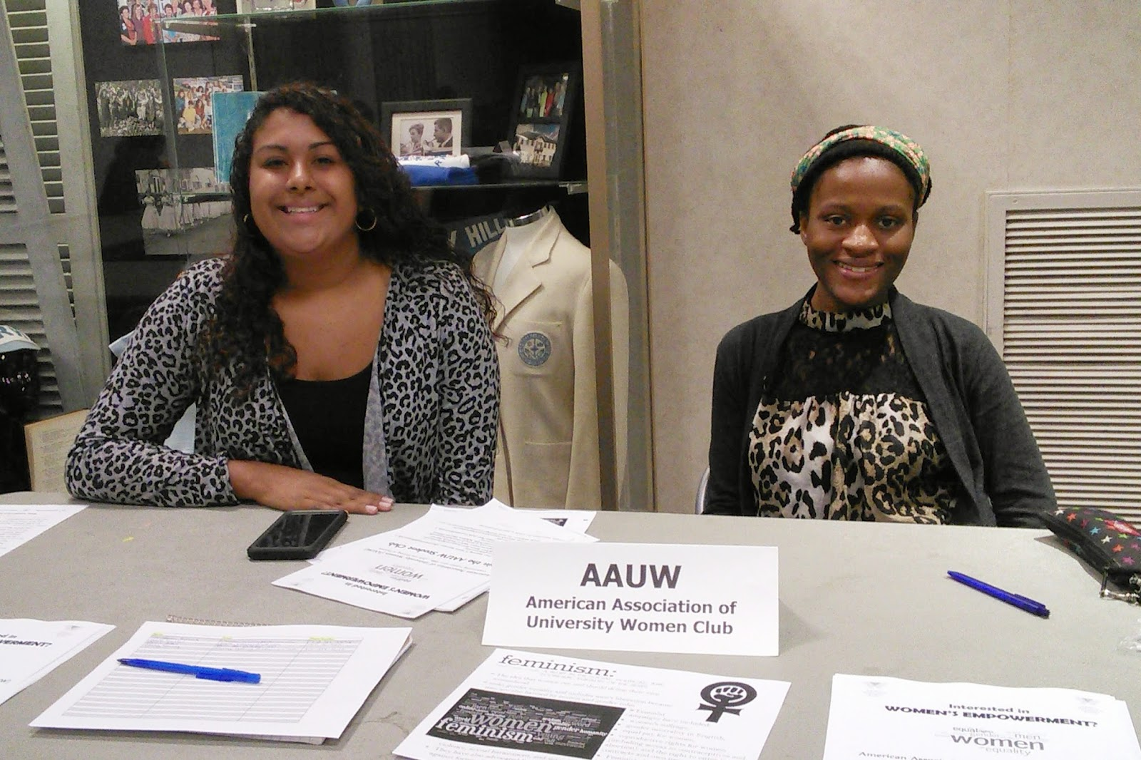 daemen college history political science department blog aauw club co presidents sierra boerman and dior manning on sept 16