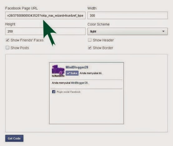 Menambah FanPage Like Facebook Di Blog