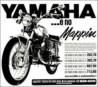moto Yamaha, brazilian advertising cars in the 70. os anos 70. história da década de 70; Brazil in the 70s; propaganda carros anos 70; Oswaldo Hernandez;
