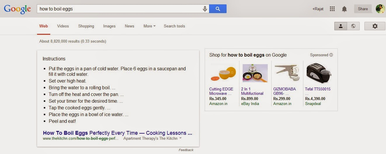 recipe search on google