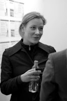Nicoline van Harskamp at ICA, 2004; photo by Val Phoenix