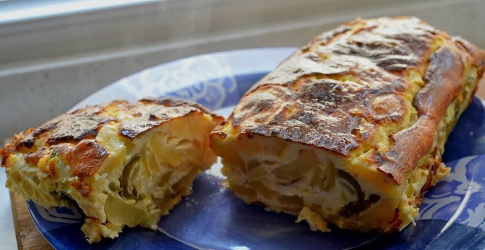 pastel vegetal con queso