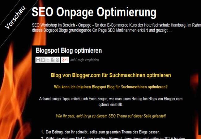 Suchmaschinenoptimierung, Suchmaschinenoptimierung Blogspot, Blog für Suchmaschinen optimieren