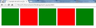 ejemplo de each con jquery