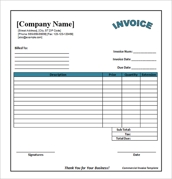 Catering Invoice Template Free Templates Download
