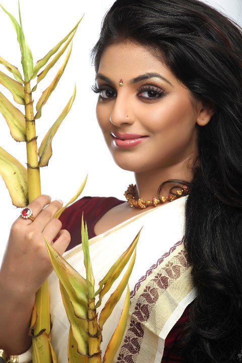 mallu actress mythili hot in saree