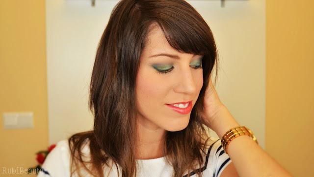maquillaje navidad verde dorado ahumado kiko rubibeauty