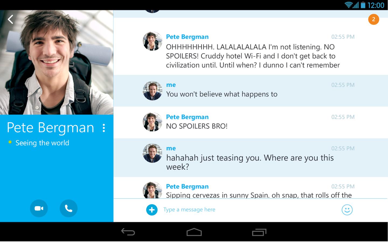 Skype Android Apk resimi 1