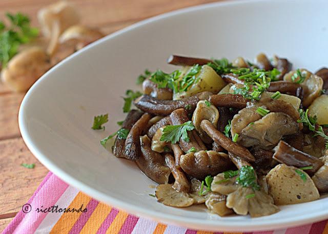 ricetta semplice di Chiodini trifolati con patate