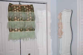 By Cicely Ingleside - DIY Brocade & Ostrich Feather Skirt