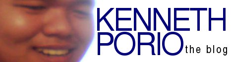 KENNETH PORIO | the blog