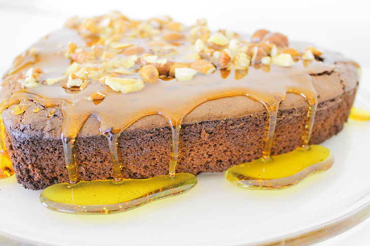 Salted Caramel Brownie Cake