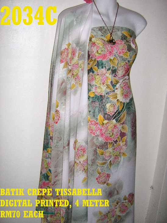 CTD 2034C: BATIK CREPE TISSABELLA DIGITAL PRINTED, EXCLUSIVE DESIGN, 4 METER