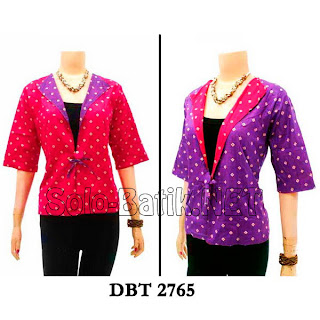 DBT 2765 - Trend Blouse Batik Wanita Terbaru 2013