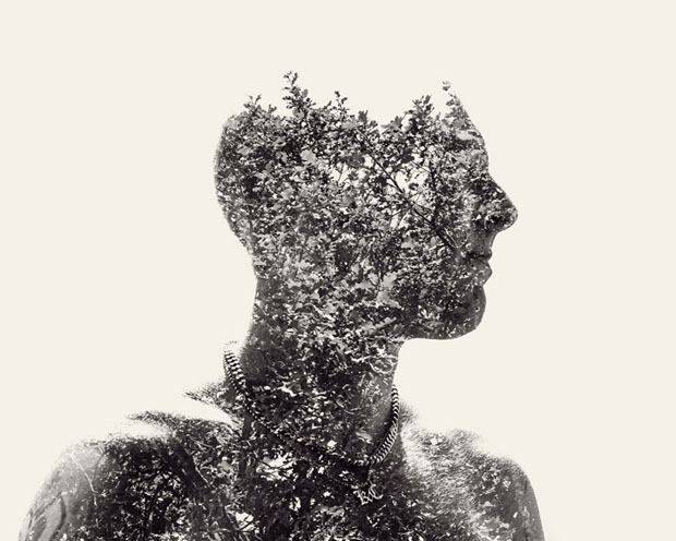 Christoffer Relander,retratos,exposicion,multiple,exposure,Portraits,We Are Nature,blanco,negro,black,white,second,boy