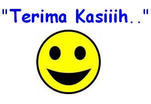 ucapan terima kasih+ senyuman ikhas = bertambah semangat untuk ...