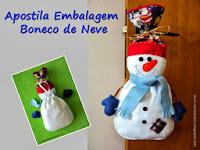 Apostila Embalagem Boneco de Neve