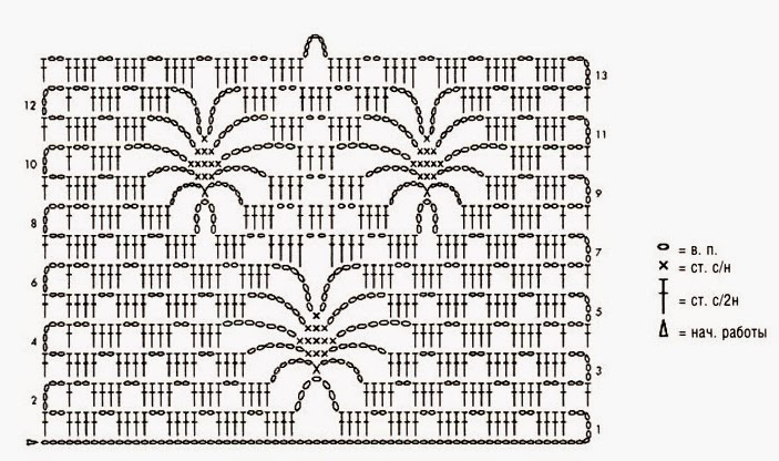 Паук схема для вязания 13