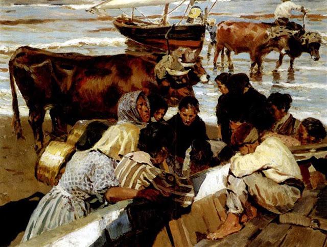 Después de la pesca, Enrique Martínez Cubells, Pintores Valencianos