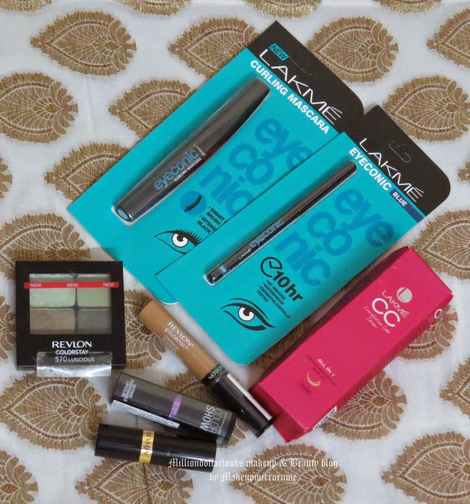 New in My Stash: Drugstore Makeup Haul, Makeup haul indian makeup and beauty blogger, Lakme eyeconic kohl in Blue, Drugstore makeup brands in India, Revlon colorstay makeup haul, Maybelline colorshow lipstick, Indian makeup and beauty blog, Beauty blogger india, Top beauty blogs in India, Milliondollarlooks makeup and beauty blog by makeupmirrornme, Indian youtube beauty guru