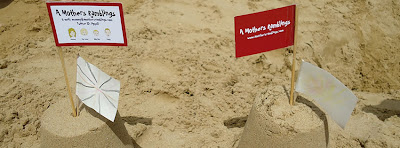 Business Cards as Sandcastle Flags