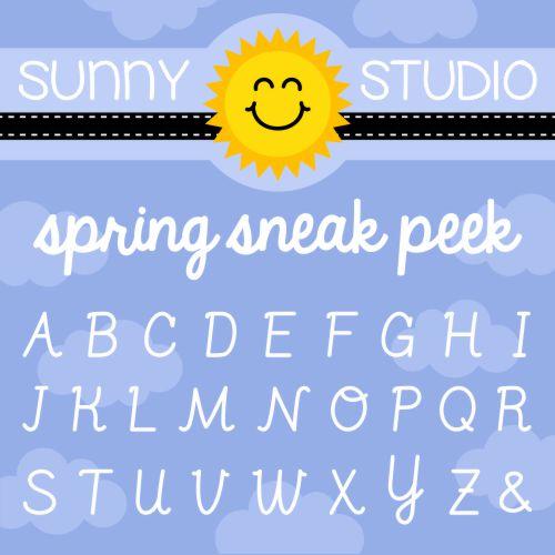 Sunny Studio Stamps Spring Release Sneak Peek of Sweet Script Stamp Set