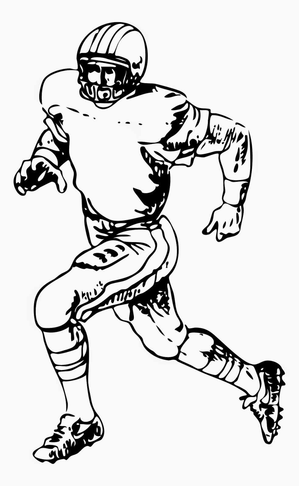 nfl football player coloring pages - coloring pages football players