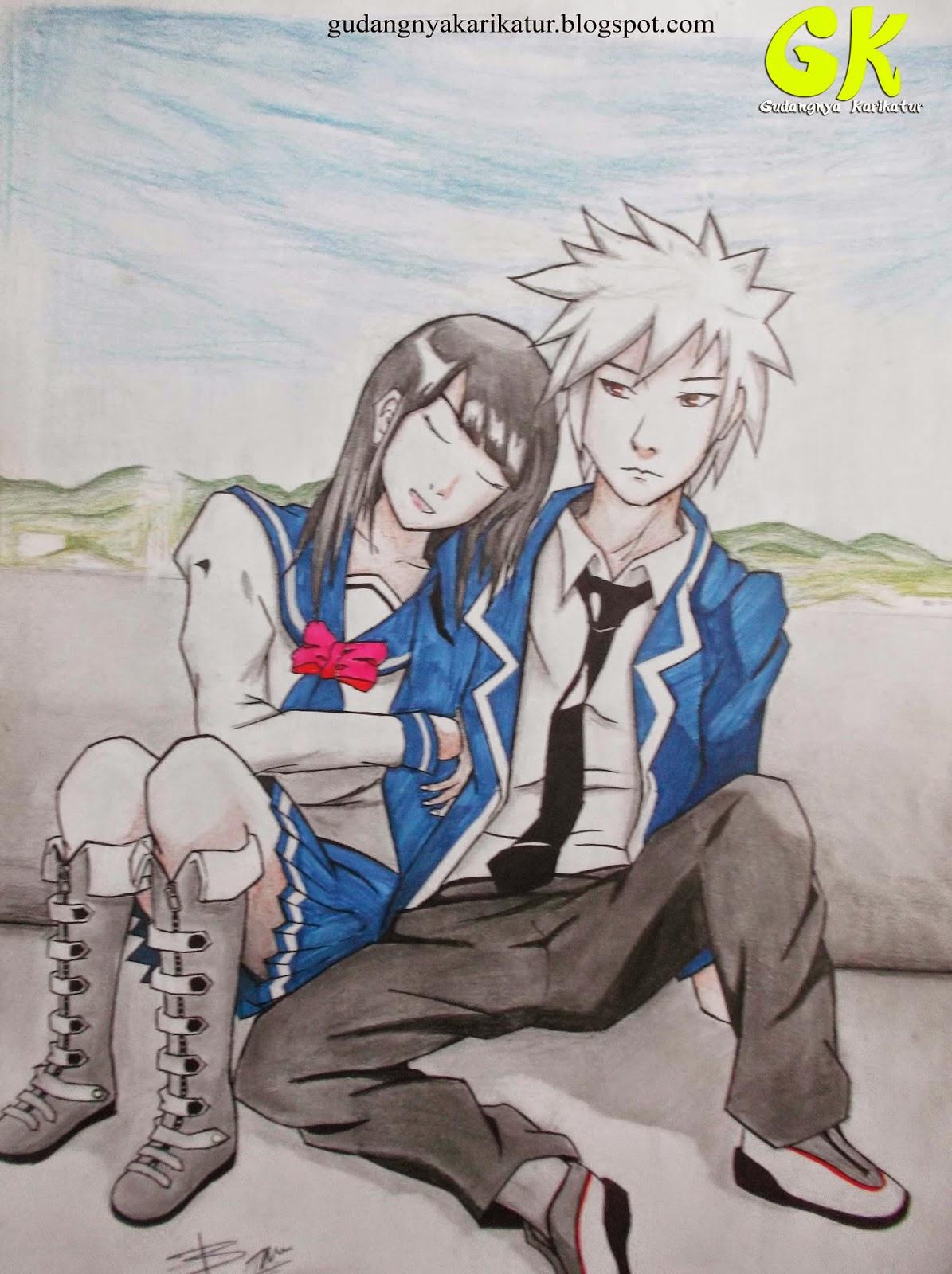 Gudang gambar lukisan kartun anime