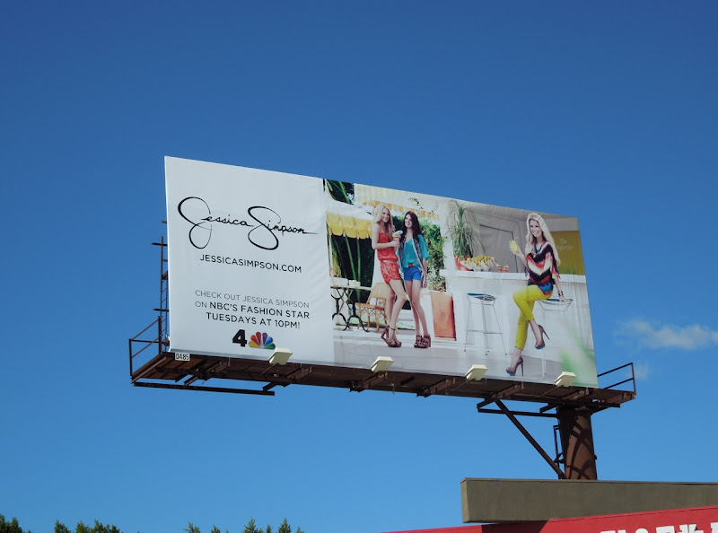 Jessica Simpson fashion billboard